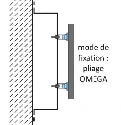 Fixation tole tablette omega