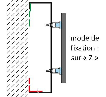 Fixation tole tablette z